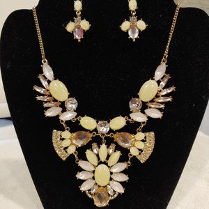 Icing Statement Necklace with Matching earrings